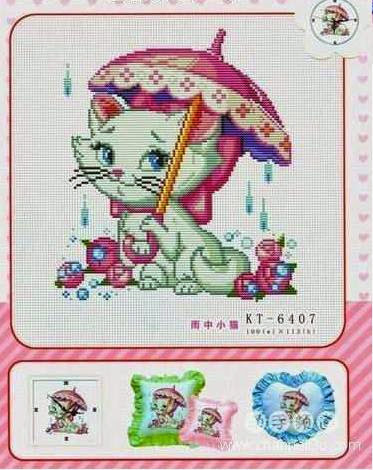 Princess cat cross stitch pattern