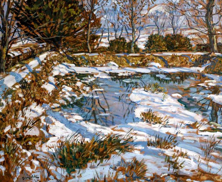 Walter Elmer Schofield - Godolphin Pond in the Snow