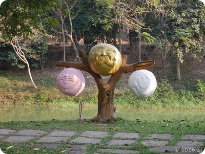 3 Spheres of Gandhiji at the Cultural Village
