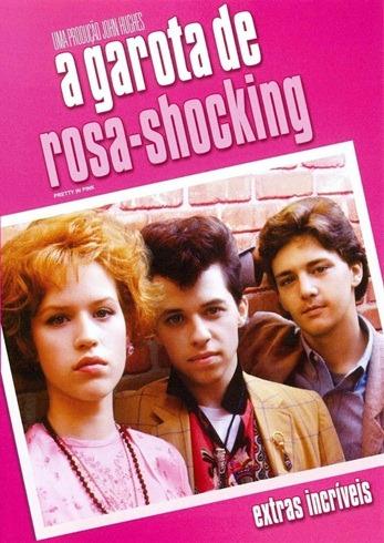 A Garota de Rosa Shocking - Capa DVD