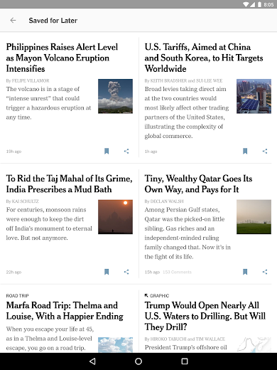 Screenshot 10 for The New York Times's Android app'