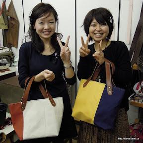 京都よりご来店。ちょっと時間が長くなってしまいましたが、なんとか帆布のバッグを作成されました。
