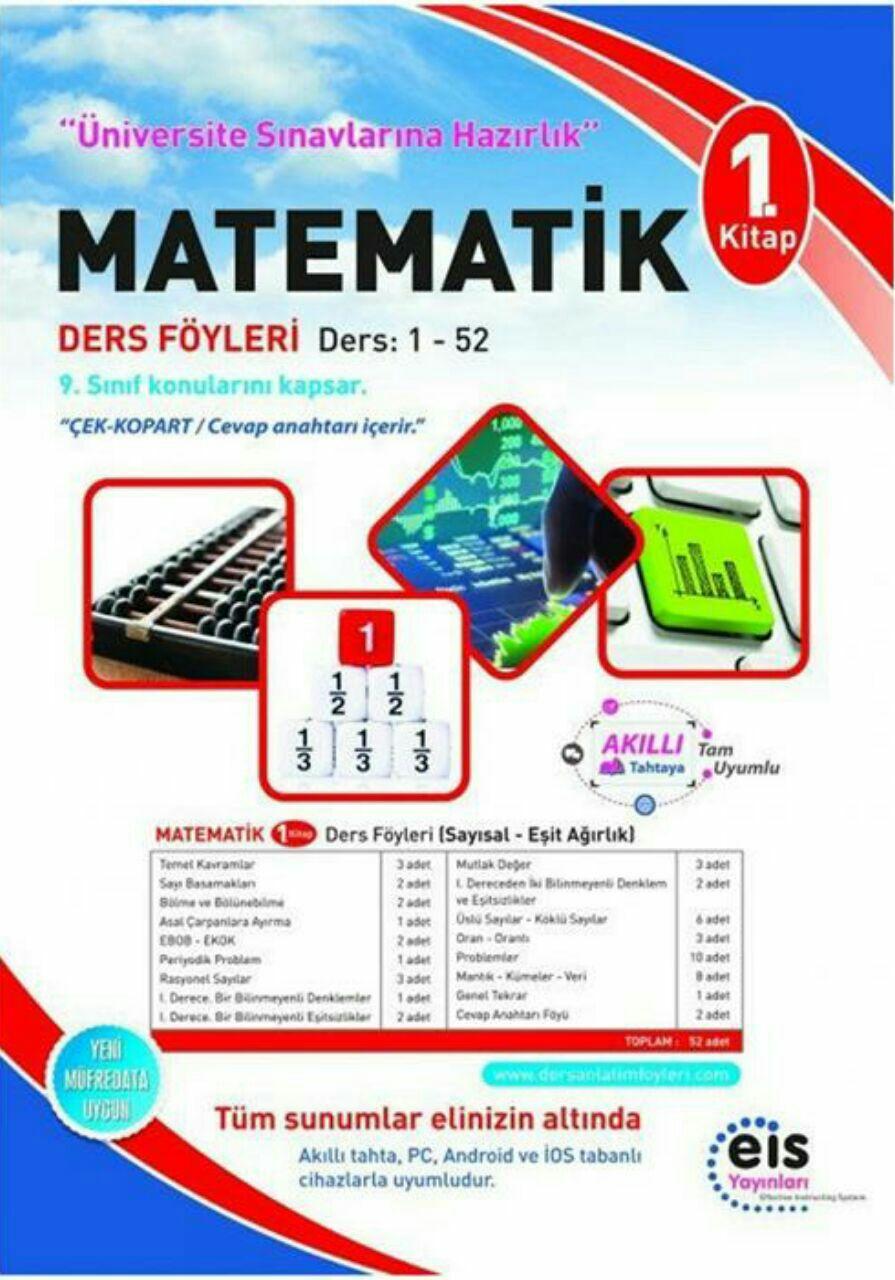 EİS Yayınları Matematik 1.Kitap Ders Anlatım Föyü
