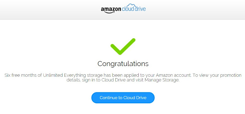 amazon cloud drive 6 month promotion