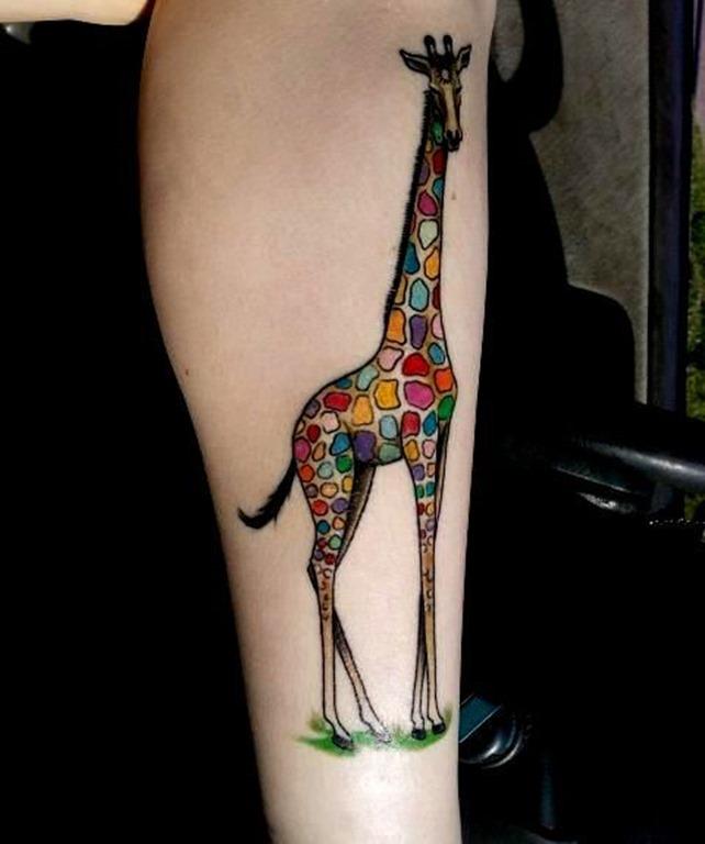 mosaico_como_a_girafa_antebraço_tatuagem