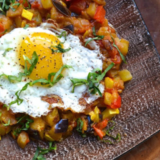 Ratatouille With Fried Eggs.
