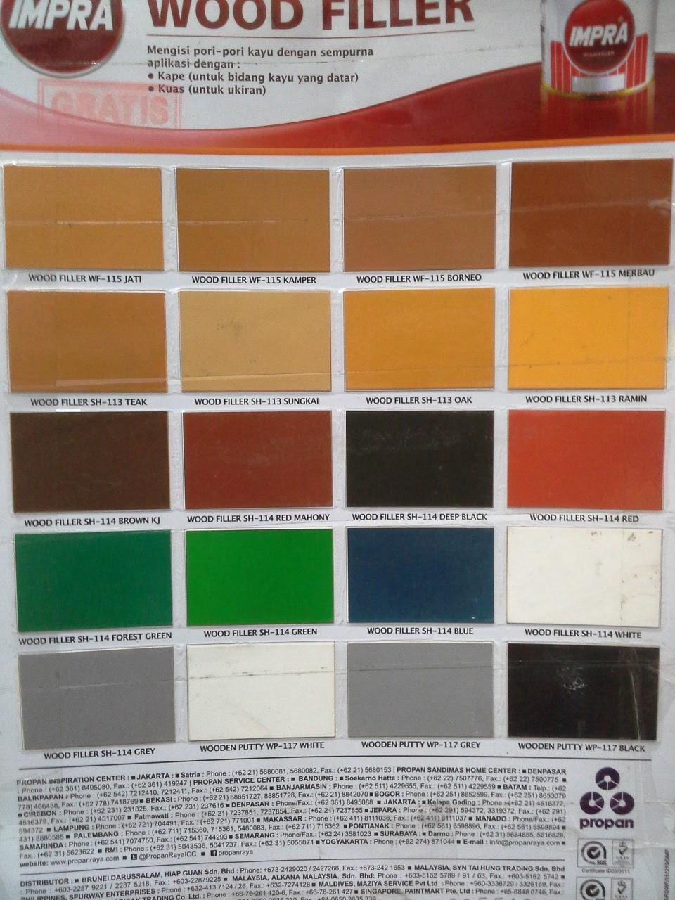 Haneutmoyan Katalog Warna Dempul Kayu IMPRA 2017