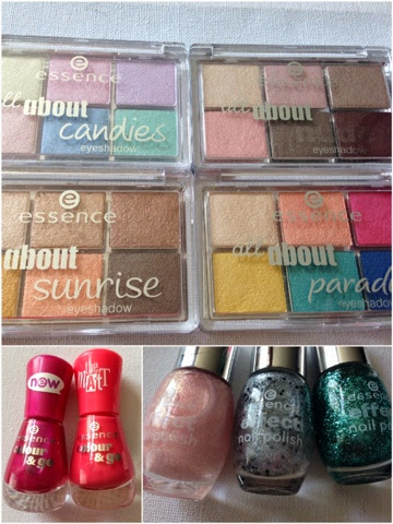 essence cosmetics, 6 eyeshadow palette, matt nail polish, nail effects
