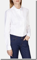 Karen Millen pleated front white shirt