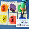 Color Matching Activity With Toy Cars