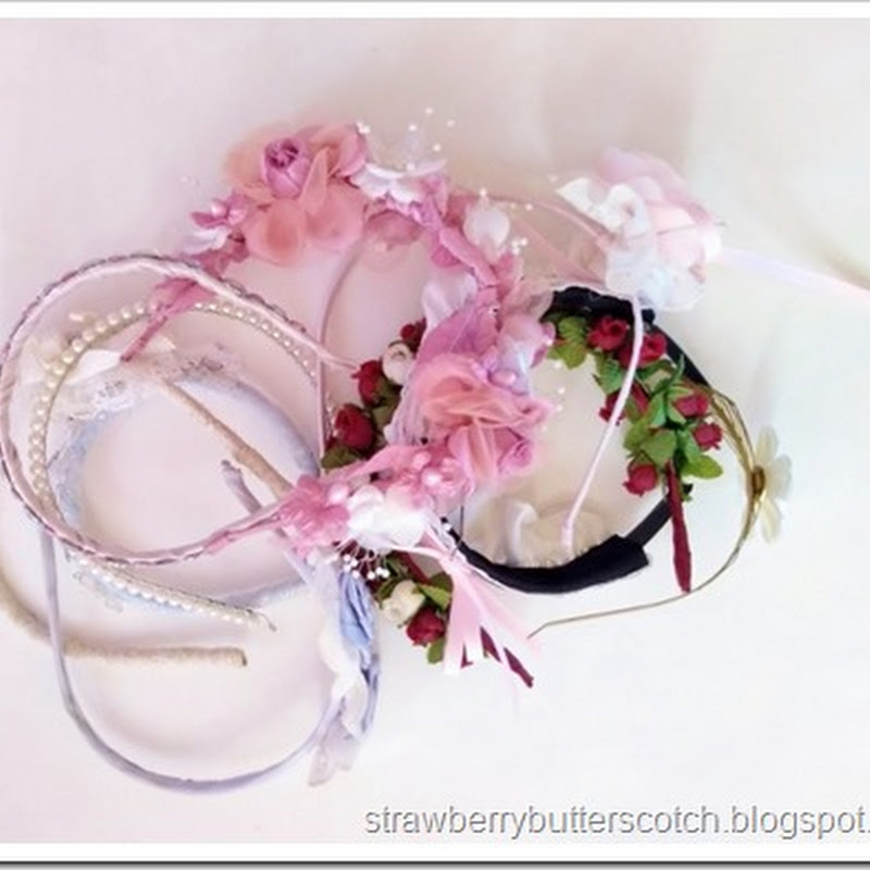 387b7a4ee565f Plastic Caddy to Pretty Headband Holder - Strawberry Butterscotch