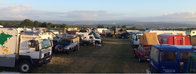 """As I write this we are at a German event called 'Willy's Treffen"""". It's promoted as an international Overlander event, although 90% of the vehicles are German.We are surrounded by many big vehicles: MAN, Unimogs, ex Fire-trucks, Iveco's. They are..."""