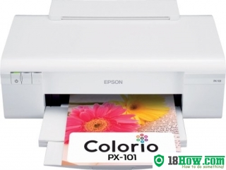 How to reset flashing lights for Epson PX-101 printer