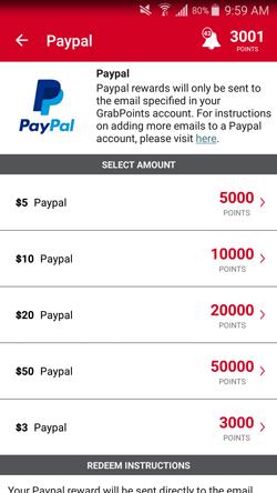 GrabPoints PayPal