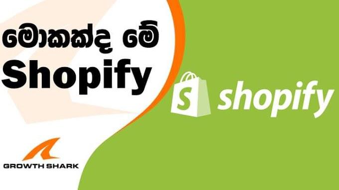 මොකක්ද මෙ shopify කියන්නේ