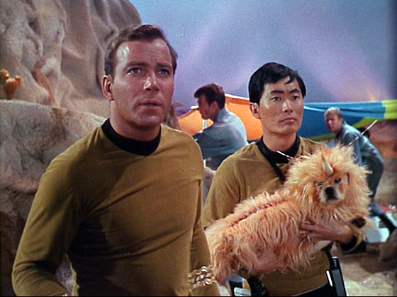 William Shatner, George Takei, and a dog
