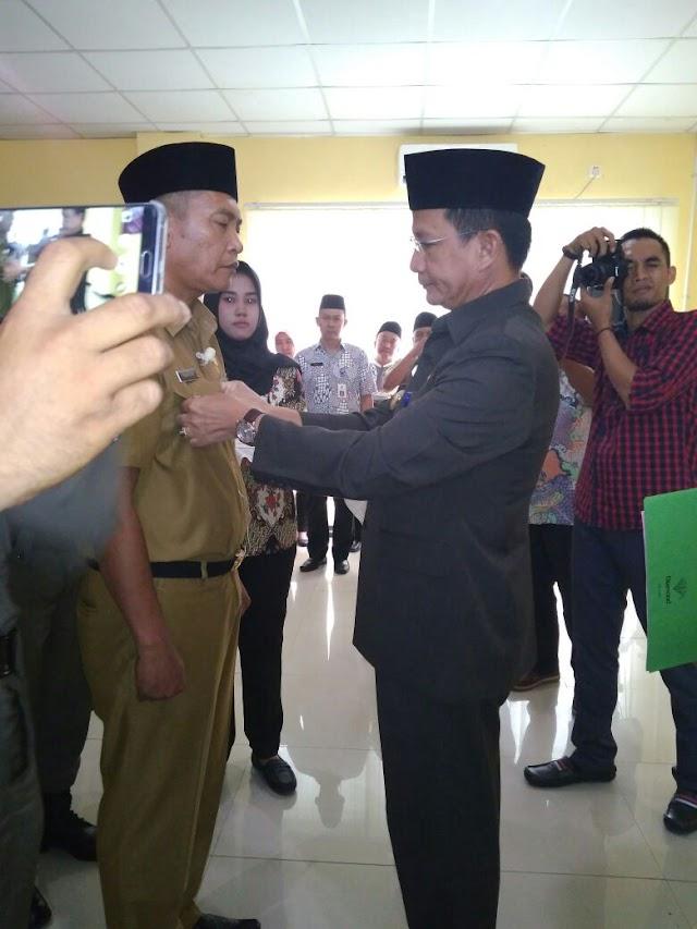 Camat Cikupa Laksanakan Sertijab Penjabat Kades Talaga Sari