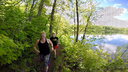 Trail running on the singletrack, May 24th, 2017