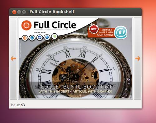 Full Circle Bookshelf  su Ubuntu 12.04