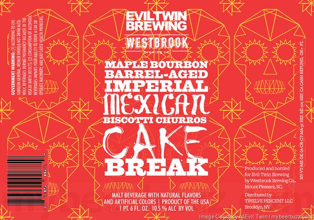 Evil Twin & Westbrook Collaborate On Maple Bourbon Barrel-Aged Imperial Mexican Biscotti Churros Cake Break