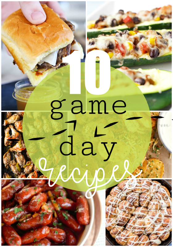 10 Game Day Recipes at GingerSnapCrafts.com #recipes #yummy
