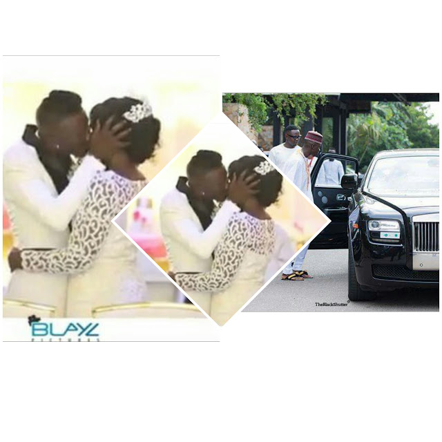 Official Video: See How passionate Stonebwoy kisses his wife and the wedding car (louisa enter his system)