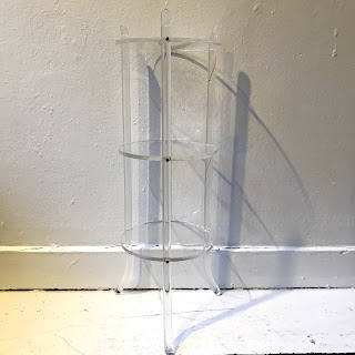 Lucite Three-Tier Plant Stand