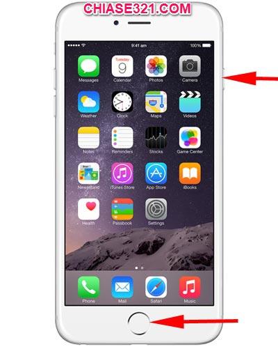 Cách chụp ảnh màn hình điện thoại iphone 6 7 8 9 s plus
