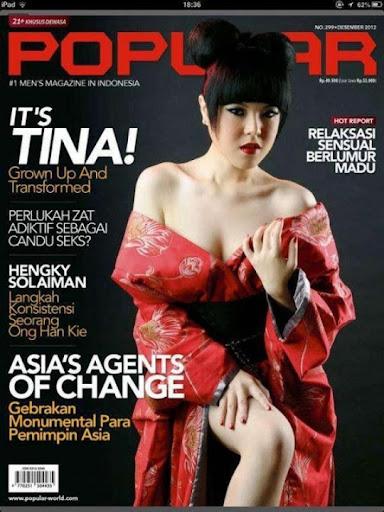 Foto Seksi Tina Toon Muncul di Cover Majalah Popular