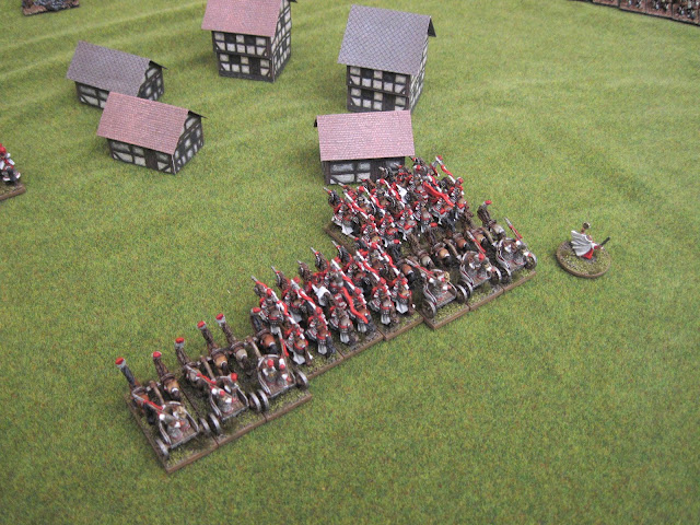 The cav sigh with relief after not being charges in the flank.