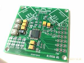 Photo: The control board with some of the components soldered.