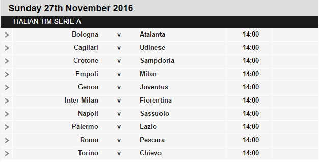 Serie%2BA%2Bschedule%2B14 Planning a Football Trip to Italy - SERIE A FIXTURES 2016/17