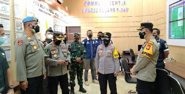 Kunjungi Polres Pulang Pisau, Wakapolda Kalteng Tekankan Penanganan Covid-19 dan Karhutla
