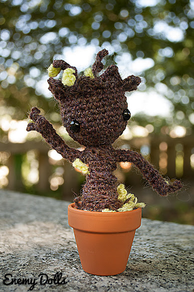 Groot amigurumi guardianes de la galaxia guardians of the galaxi