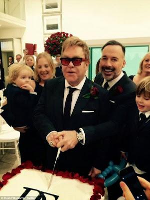Finally, Elton John weds his gay friend David Furnish..