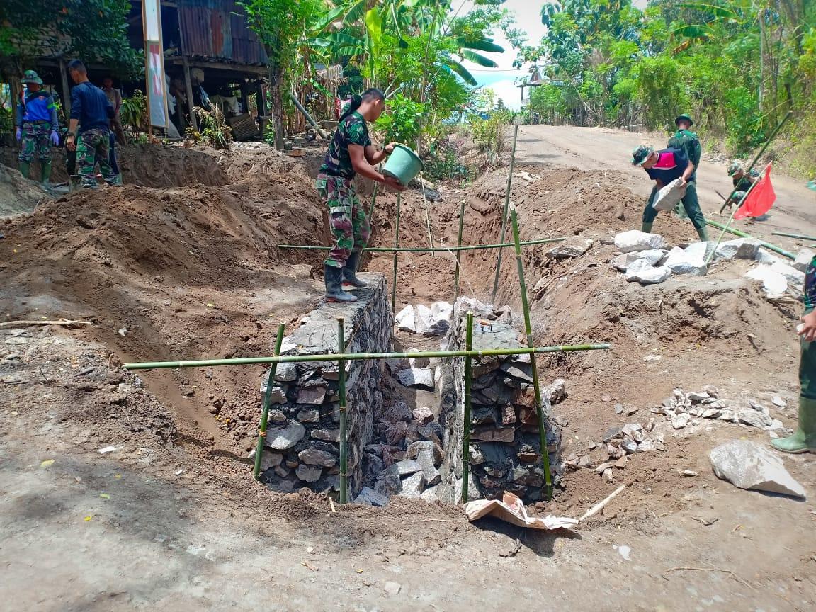 Ngebut di Sasaran Kedua TMMD 106 Tahun 2019 Kabupaten Soppeng, Progres Pembangunan Capai 34 Persen