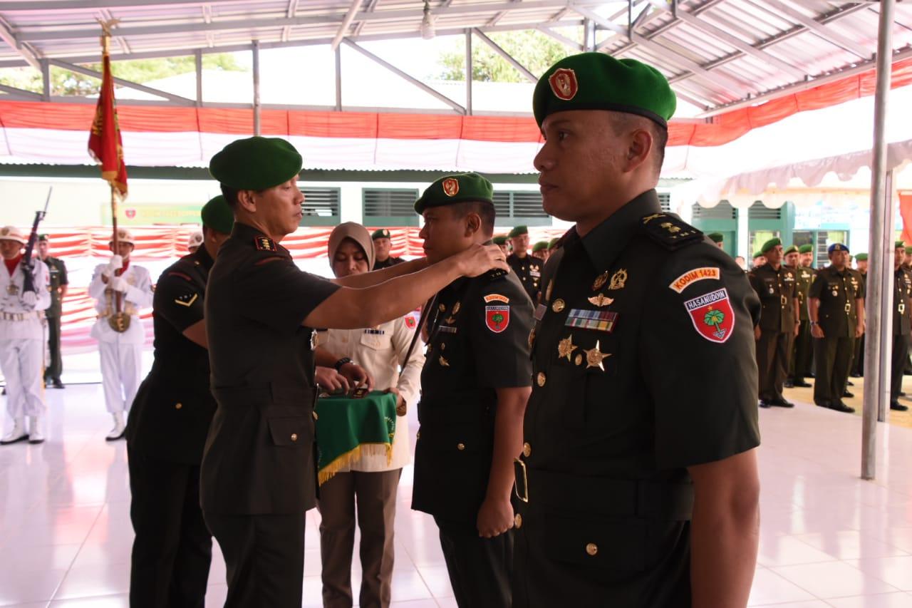 Letkol Inf Richard M Butar Butar Jabat Dandim 1423 Soppeng yang Baru