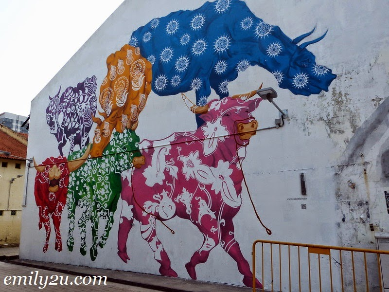 Little India Singapore wall mural