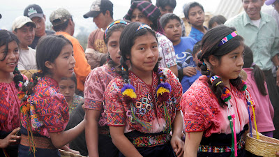 Older children at opening ceremony, Sienna Project 2011 Guatemala trip to help build school in Palanquix, Solala, Guatemala. Photos by TOM HART