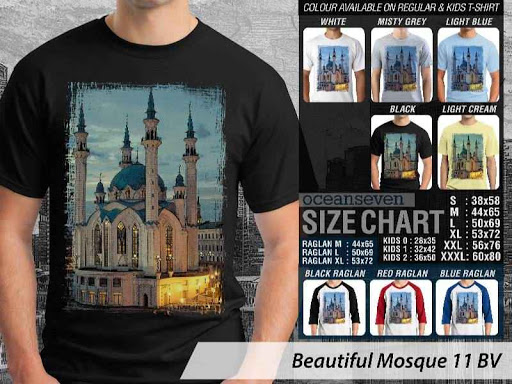 Kaos Muslim Islam Beautiful Mosque 11 distro ocean seven
