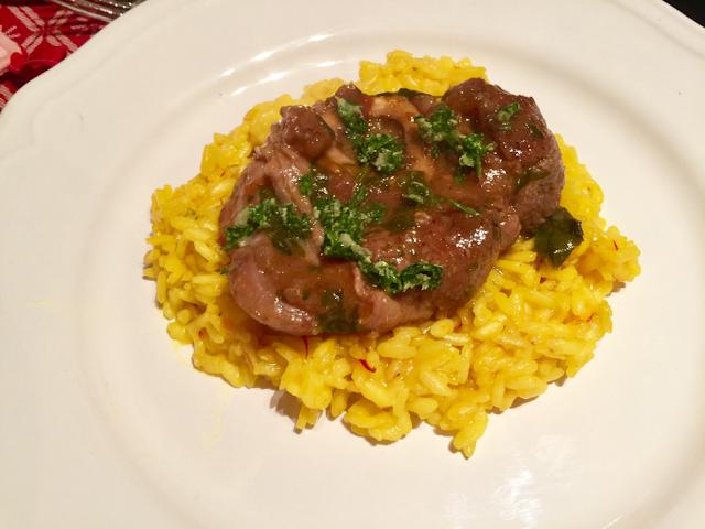 Lamb ossobuco with yellow saffron risotto alla milanese