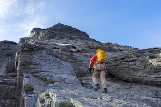 Photo: Hiking / climbing to the summit of Store Venjetind, Romsdalen.