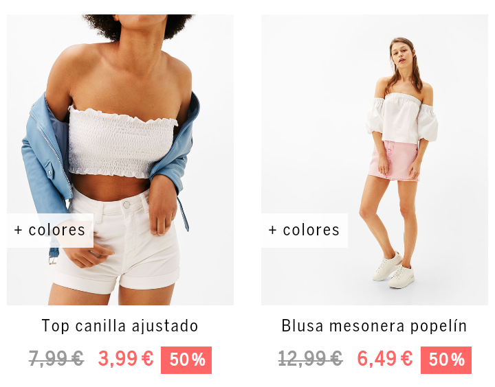 06c0f0ec6 Mujer - España: 🇪🇸🇪🇺 -50% Bershka | Rebajas.