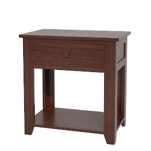 shaker nightstand with shelf