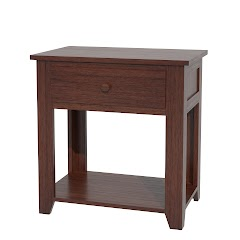 Shaker Nightstand with Shelf