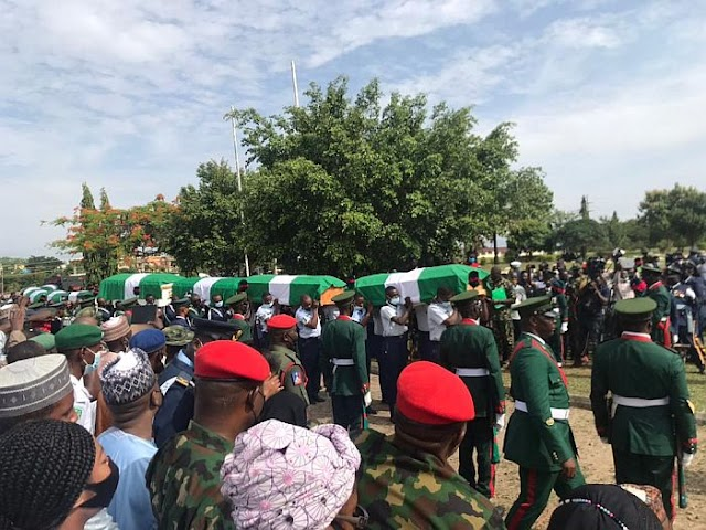 Bodies Of Officers Who Died In Military Air Crash Arrived For Final Burial (Photos Video)