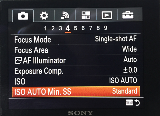 ISO AUTO Min. SS Feature