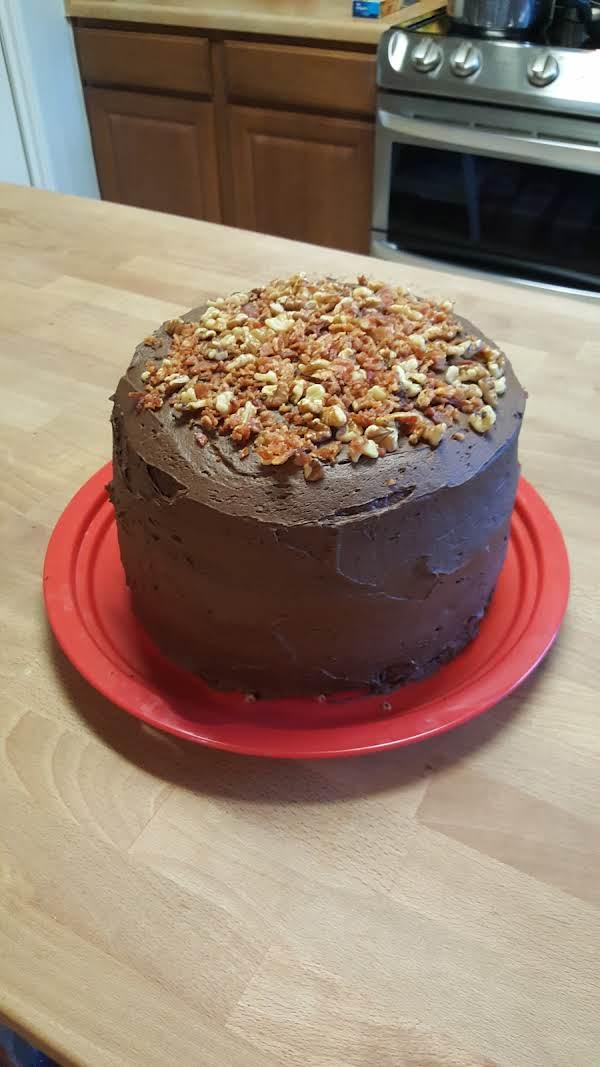 Dark Chocolate Bacon Cake