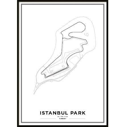 Poster, Istanbul Park F1 vit