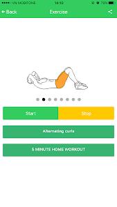 Abs 5 minutes workout screenshot 24